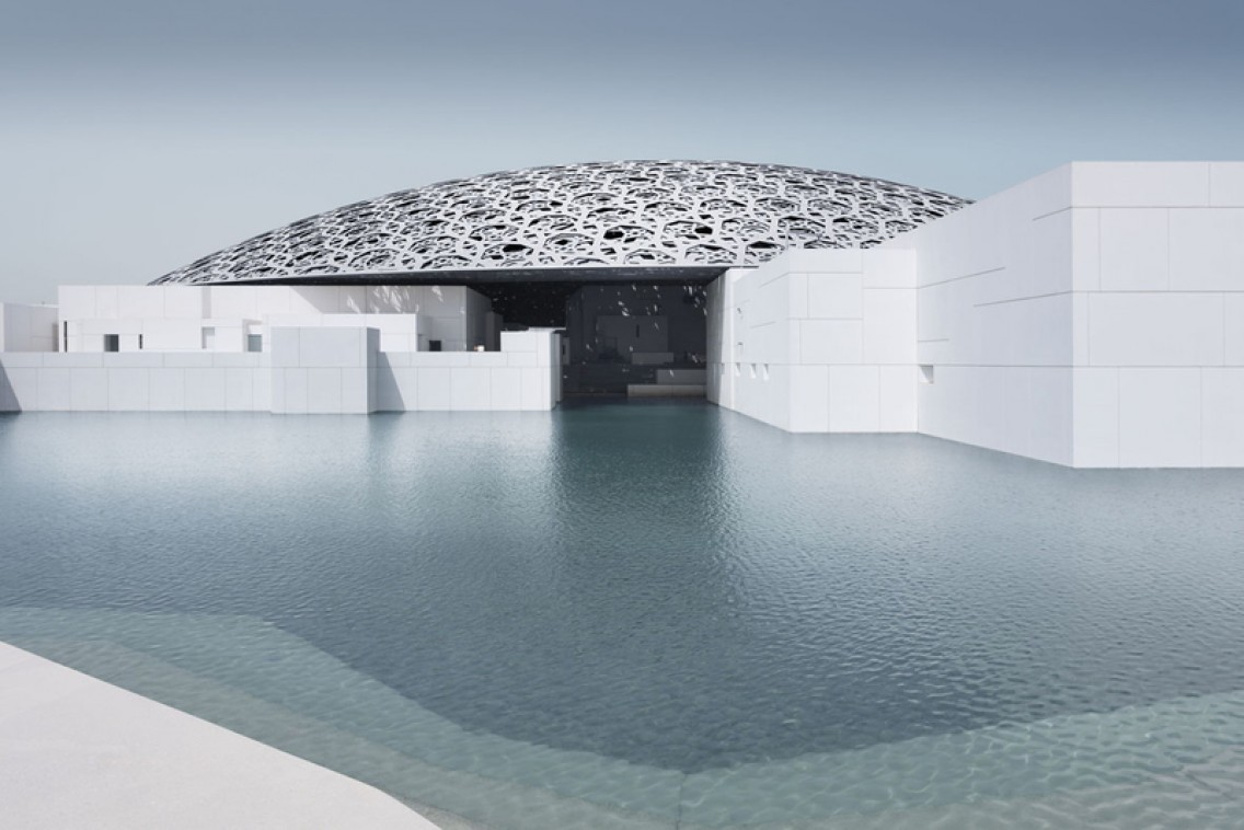 The Dome of the new Louvre in Abu Dhabi