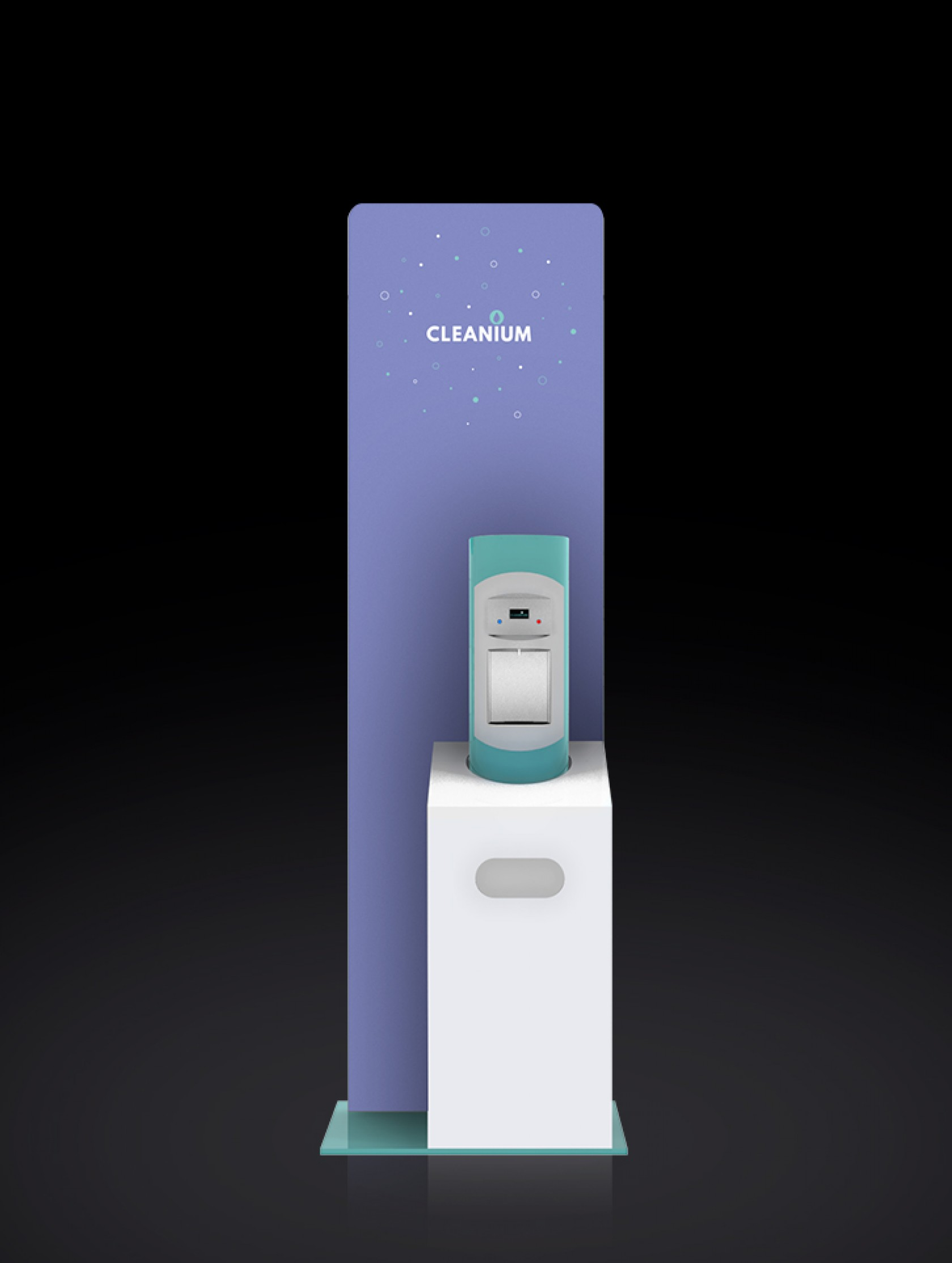 Voilàp Digital: Cleanium Child Teal_1 Cleanium Child è il dispenser igienizzante automatico a misura di bambino